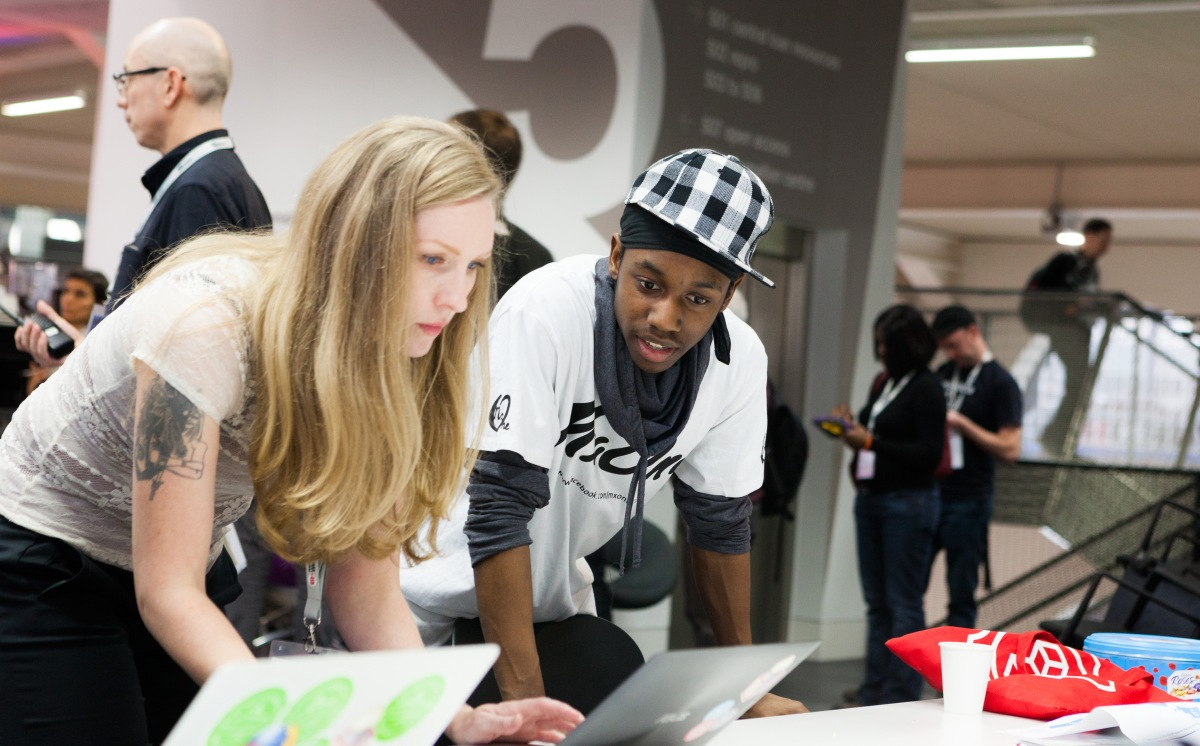 Working with a MozKid at Ravensbourne at MozFest 2012