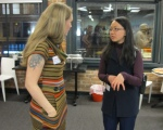 Chatting with an Entrepreneur at Woman 2.0 at YVR Office